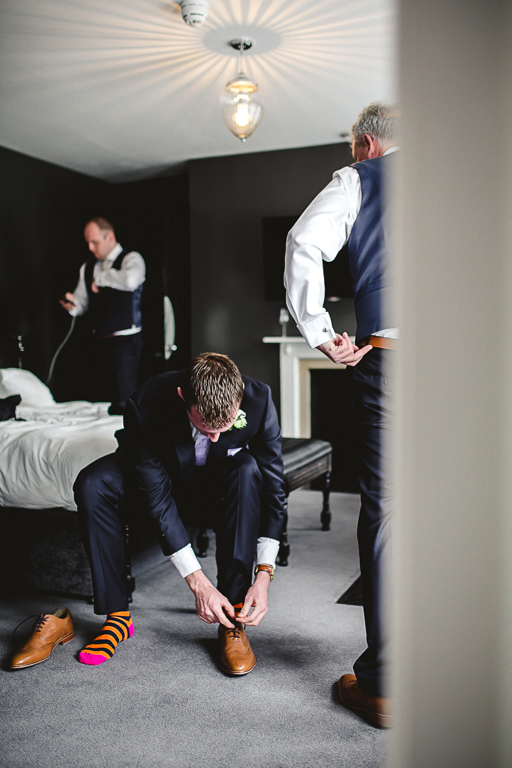 Groom getting ready - Swynford Manor Wedding Photographer