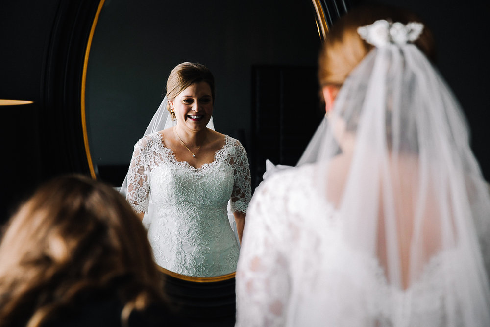 Bride's Veil - Swynford Manor Wedding Photographer