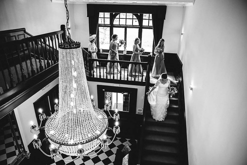 Bridal Party leaving the Bridal Suite - Swynford Manor Wedding Photographer