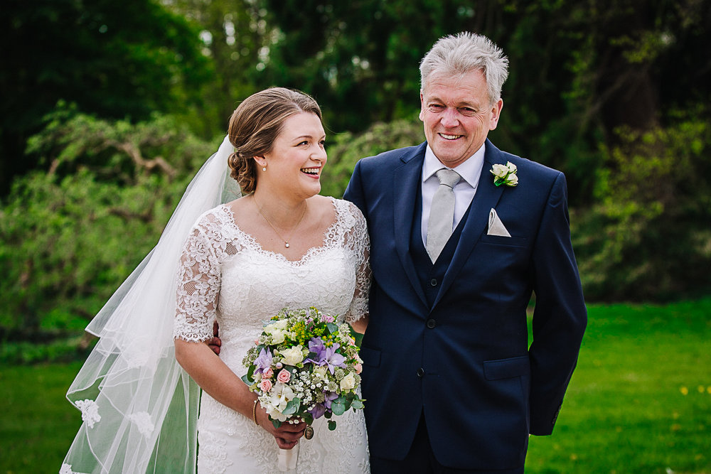 Bride & Father of the Bride - Swynford Manor Wedding Photographer