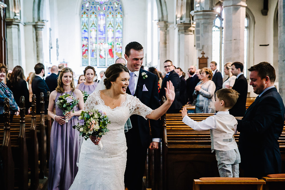 Wedding Ceremony at Cottenham All Saint's Church - Swynford Manor Wedding Photographer