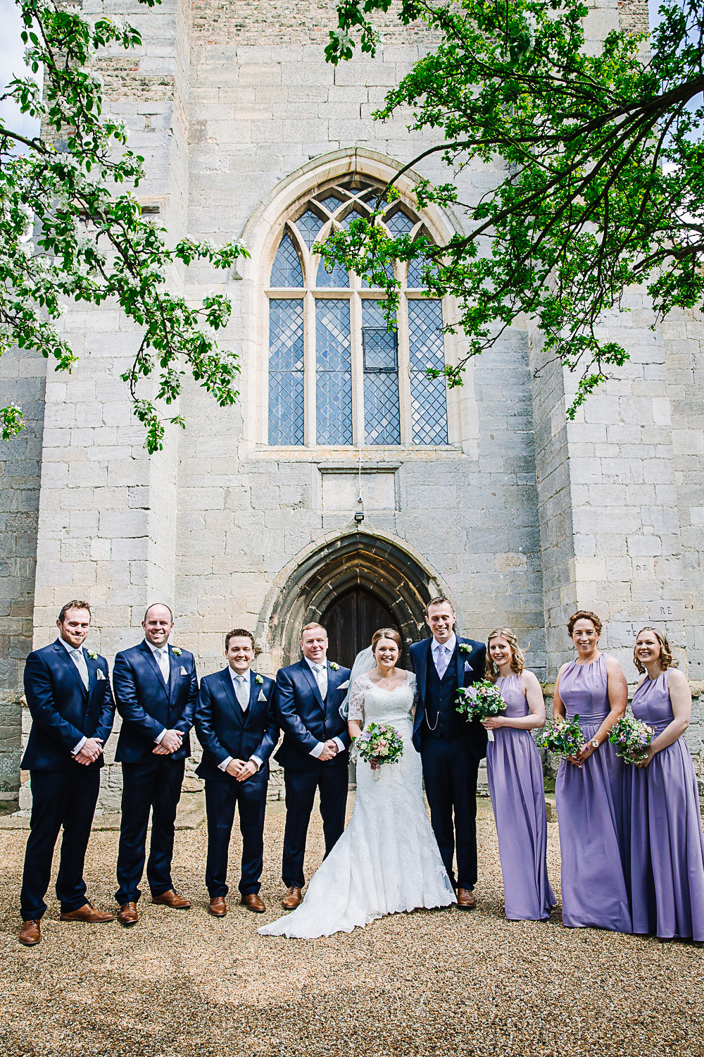 Wedding Party at Cottenham All Saint's Church - Swynford Manor Wedding Photographer
