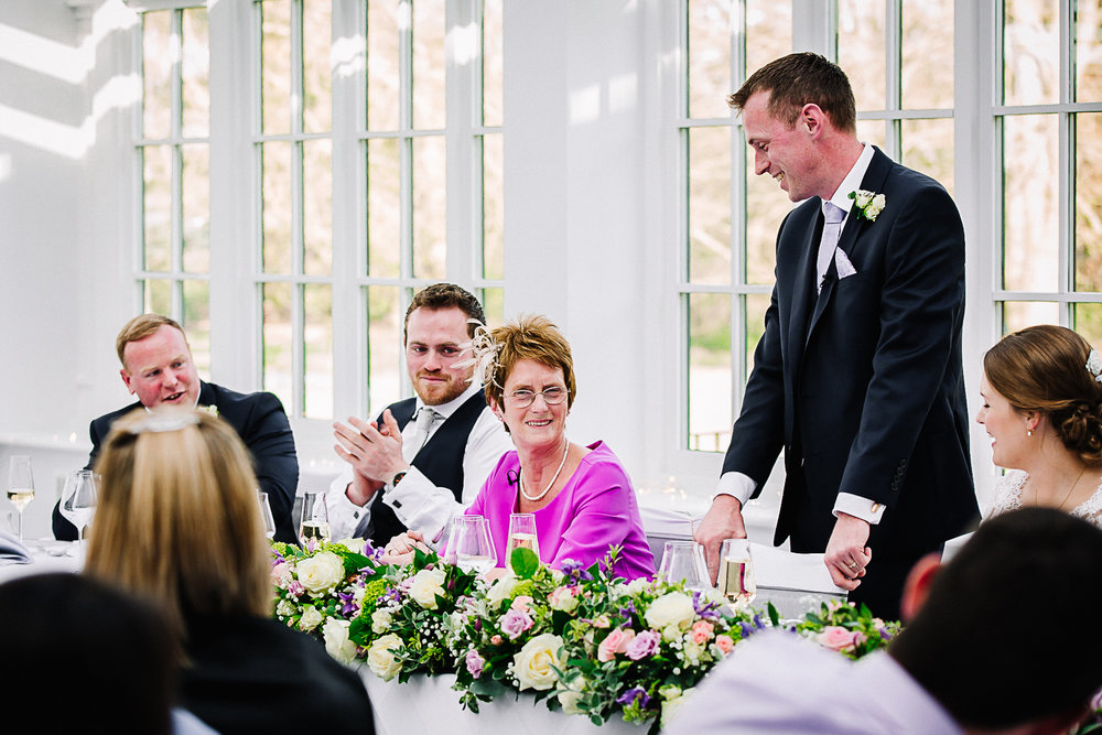Groom's speech at Swynford Manor Wedding