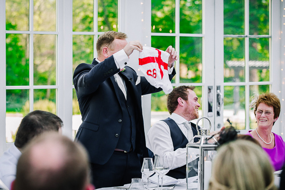 Bestman speech at Swynford Manor Wedding