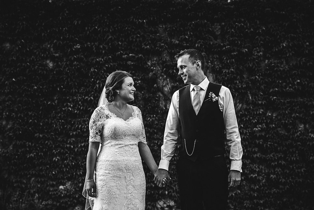 Sunset portrait in the gardens at Swynford Manor Wedding