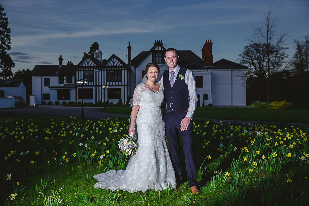 Sunset portrait at Swynford Manor Wedding