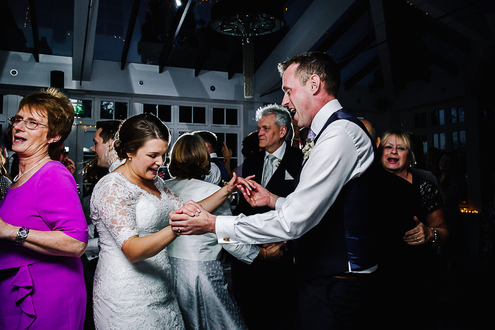 Bride and Groom Dancing - Swynford Manor Wedding