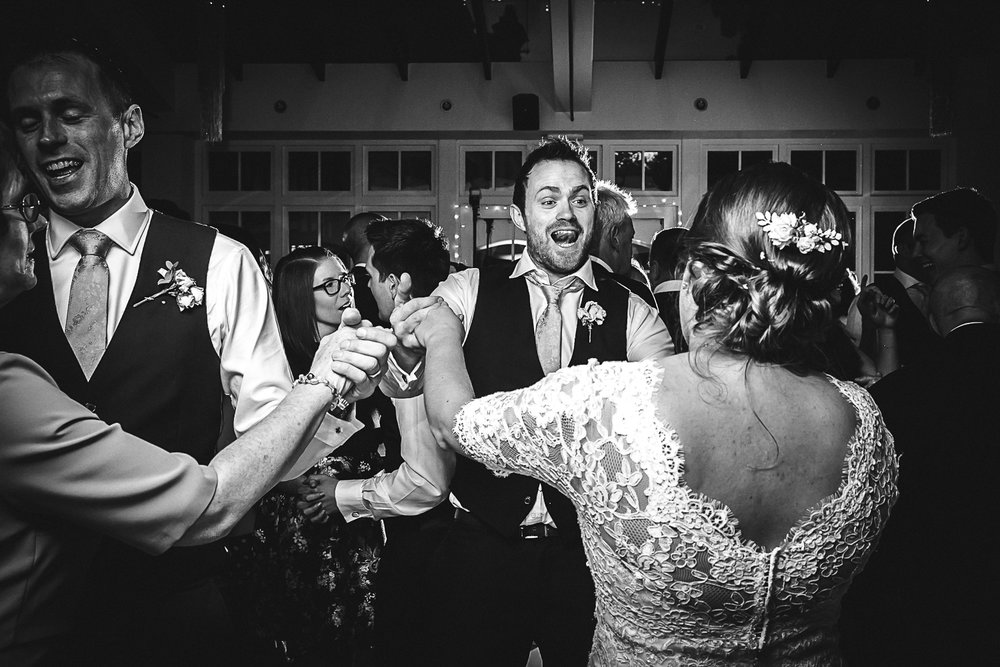 Guests Dancing at Swynford Manor Wedding