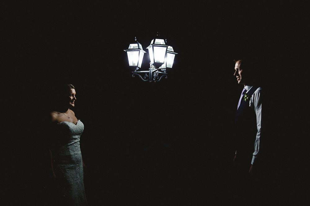 Night time Portrait at Swynford Manor Wedding Cambridgeshire