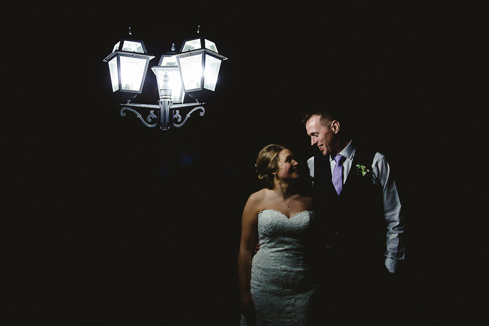 Portrait at Night at Swynford Manor Wedding Cambridgeshire