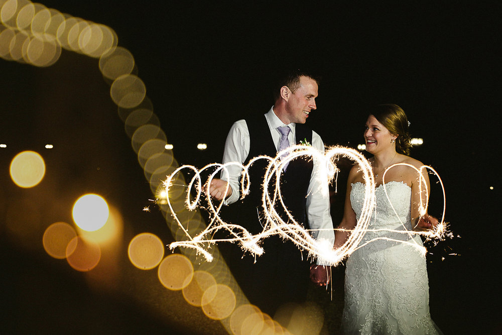 Sparklers at Swynford Manor Wedding Cambridgeshire