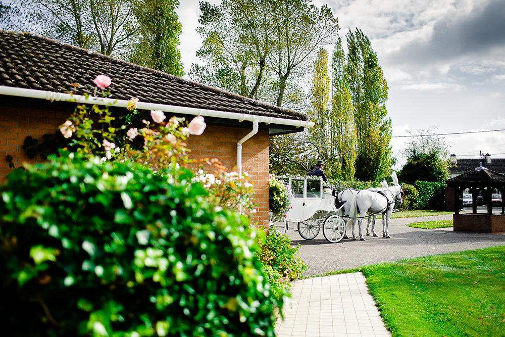 Tudor Barn Belstead Ipswich Wedding - Horse and carriage