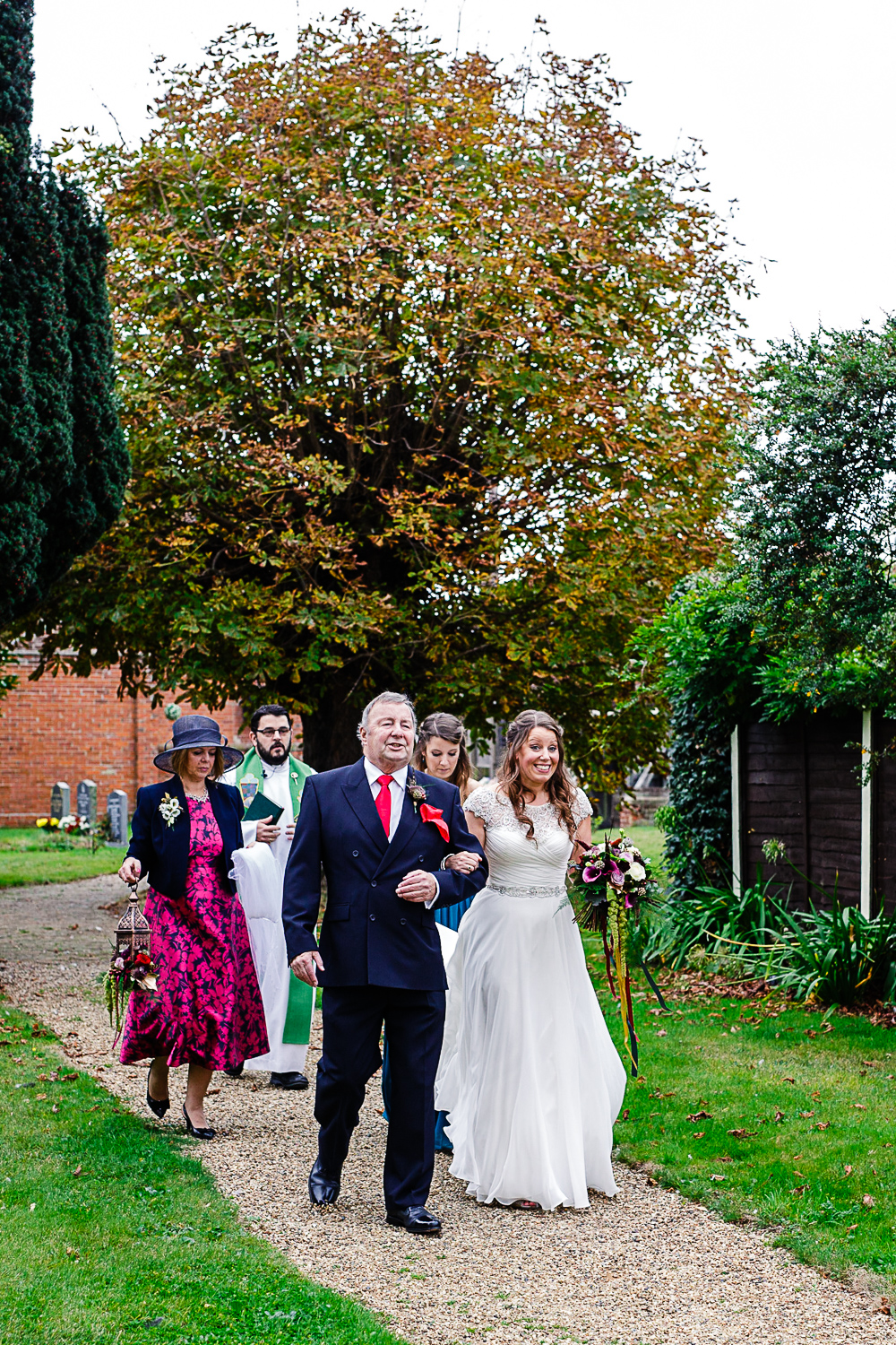 Tudor Barn Belstead Suffolk Wedding Photographer - Father of the Bride