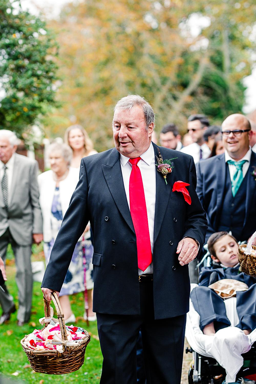 Tudor Barn Belstead Suffolk Wedding Photographer - Confetti in the Church Gardens