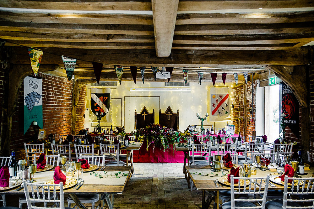 Game of Thrones Themed Wedding at Tudor Barn Belstead Suffolk