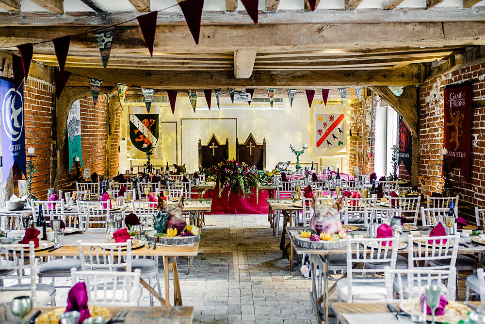 Game of Thrones Themed Wedding Banquet at Tudor Barn Belstead Suffolk