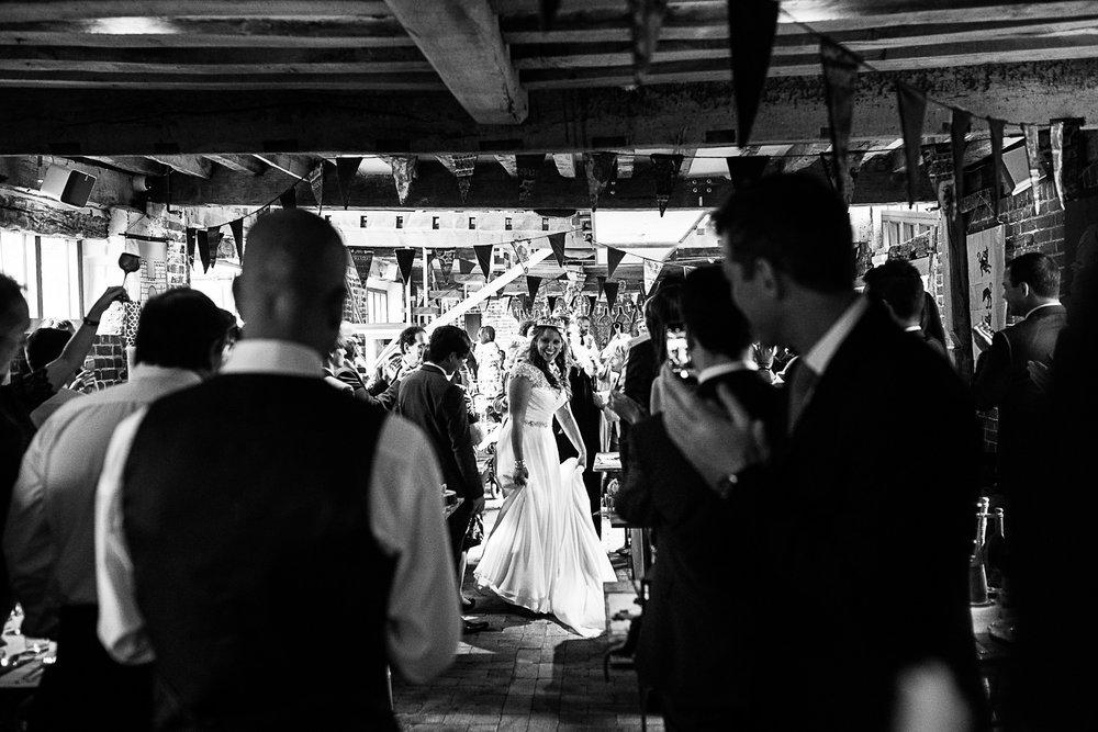 Tudor Barn Belstead Wedding Barn Venue - Bride & Groom's Entrance