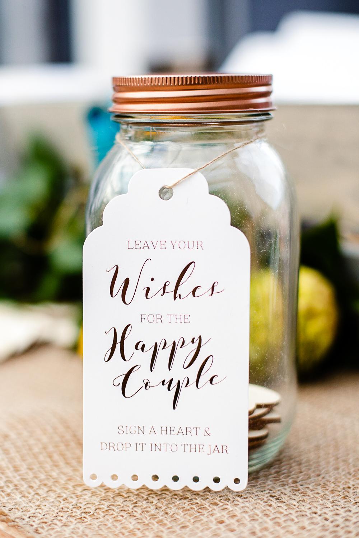 Tudor Barn Belstead Wedding Barn Venue - Happy Couple Jar
