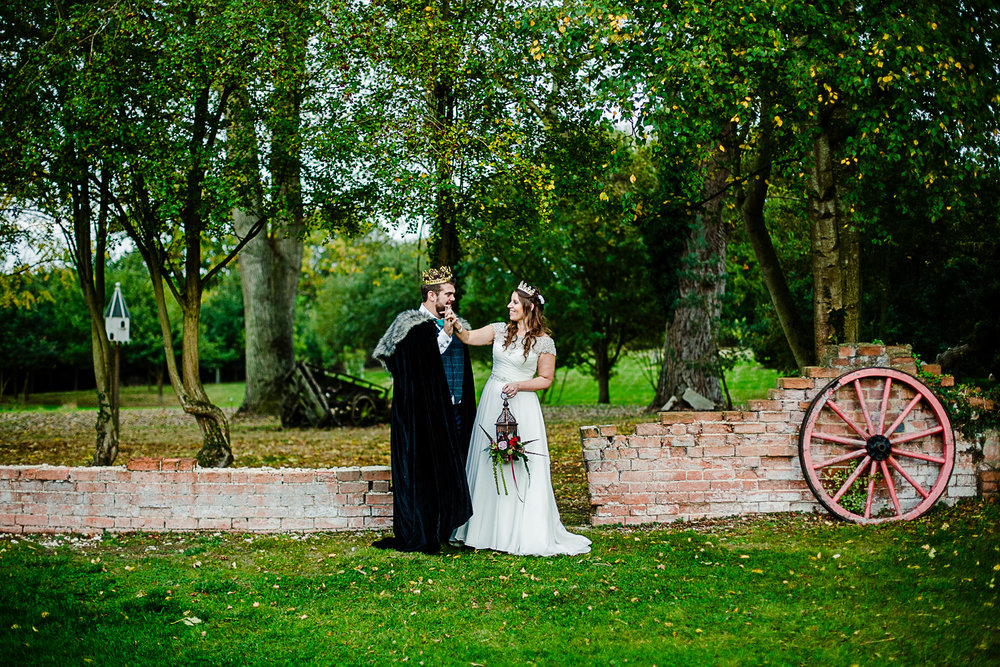 Tudor Barn Belstead Wedding Photographer - Couples portrait in the gardens - Game of Thrones