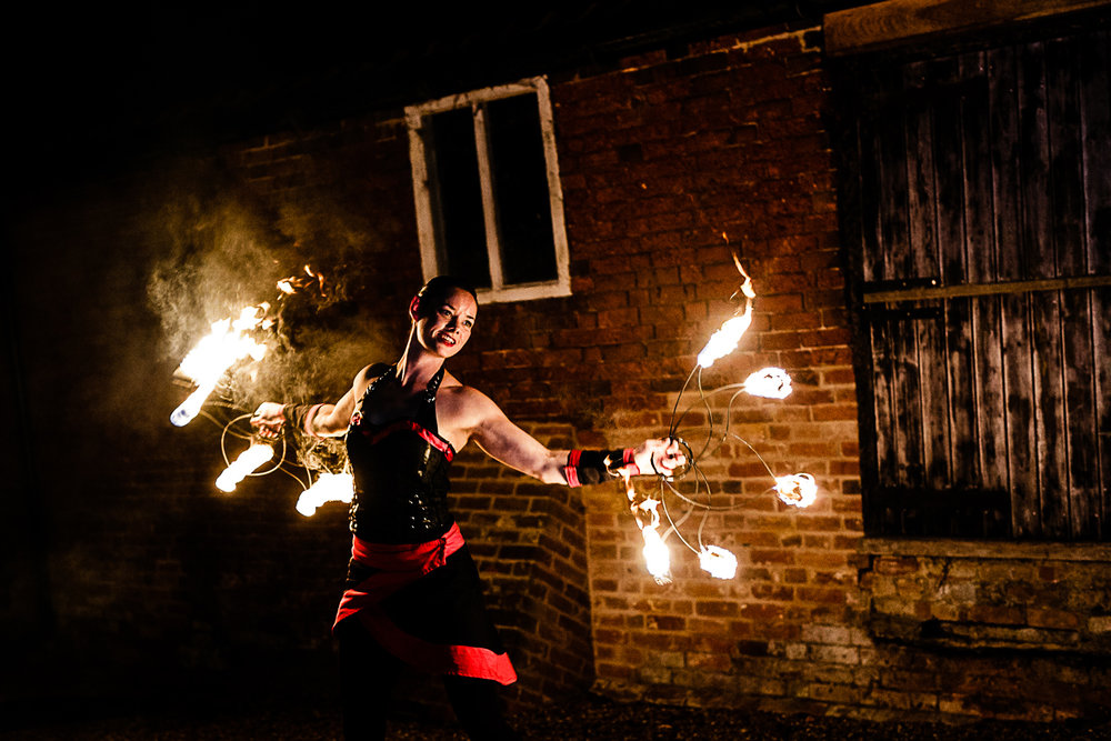 Tudor Barn Belstead Wedding Photographer - Fire Breathers - Game of Thrones Theme