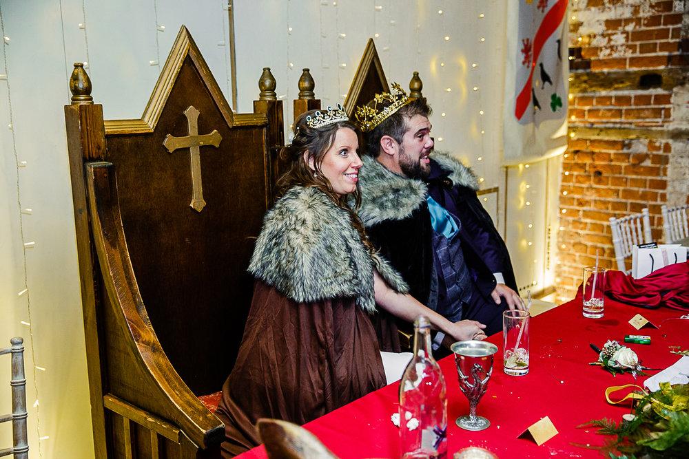 Tudor Barn Wedding - White Walker from Game of Thrones