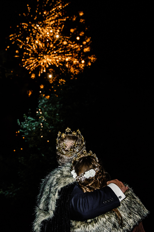 Tudor Barn Wedding - Fireworks