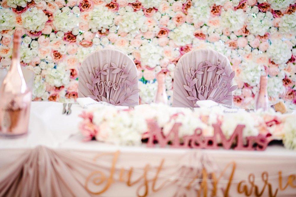 Rose Gold Colour Theme at Parklands Quendon Hall Wedding