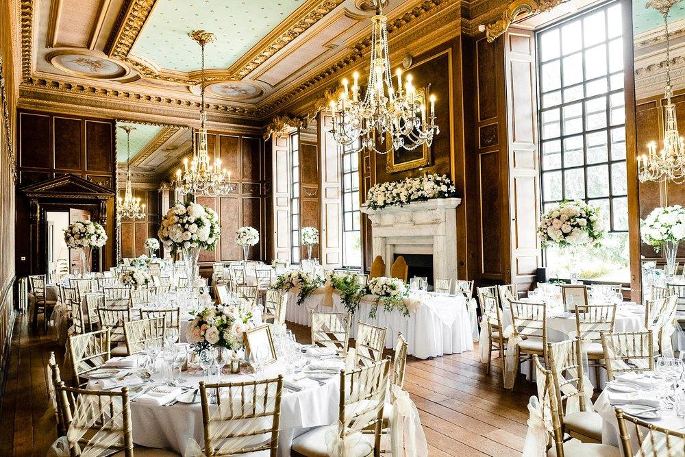 Gosfield Hall Wedding Photographer - Reception Hall