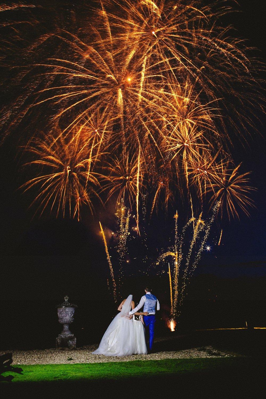 Gosfield Hall Wedding Photographer - Fireworks