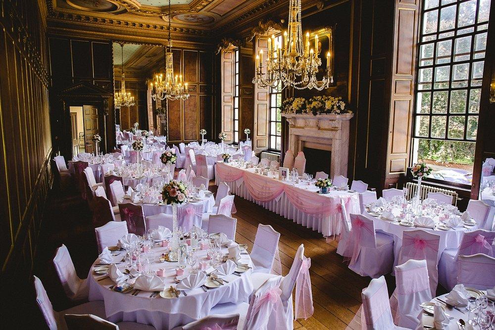 Gosfield Hall Wedding Photographer - Grand Hall Reception