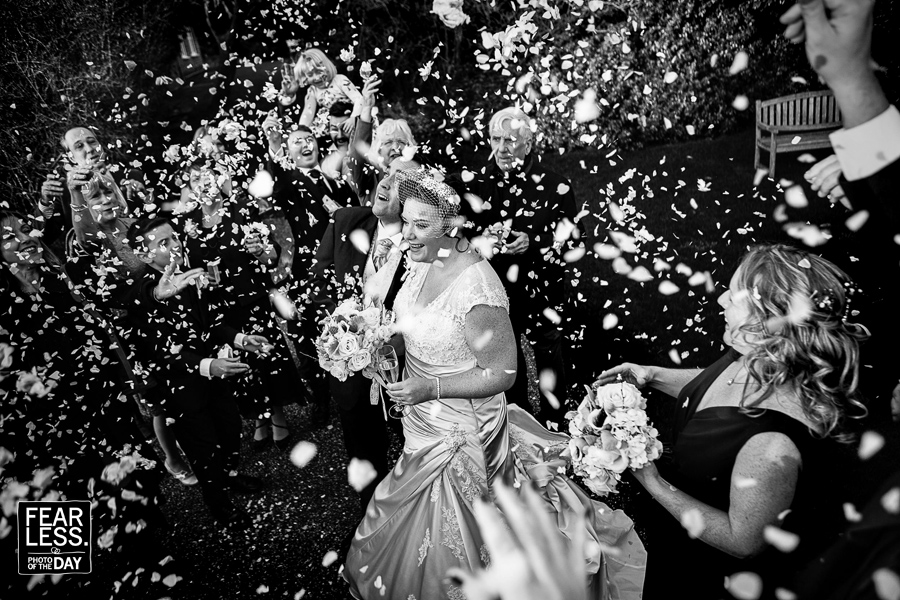 OUTDOOR CONFETTI SHOT AT THE REID ROOMS ESSEX