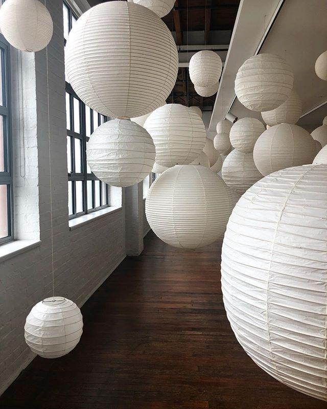 Akari Exhibit #lanterns #noguchi #LIC
