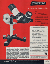An advertisement from Unitron's 1958 catalog describes their fine Moonwatch telescope.