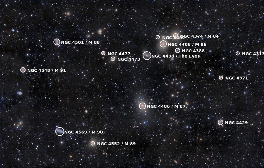 Virgo Cluster image credit: Rogelio Bernal Andreo/NASA/APOD