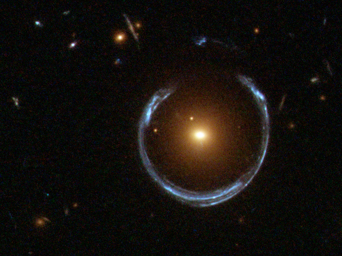 Einstein Ring LRG 3-757 (Credit ESA/NASA)