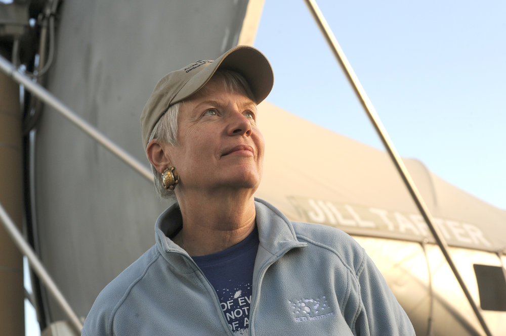 Jill Tarter outside w hat.jpg