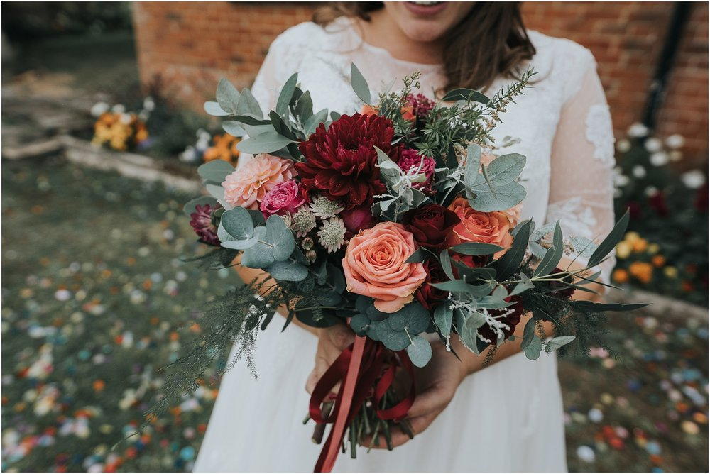 colourful wedding flowers