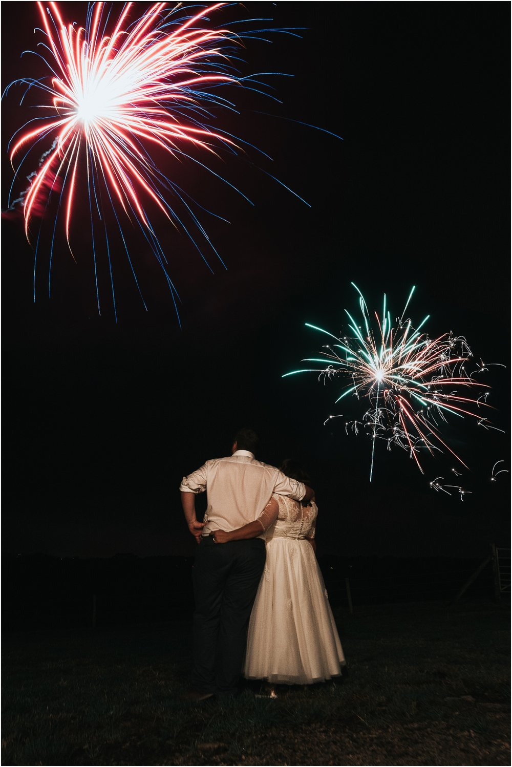 fireworks wedding photo