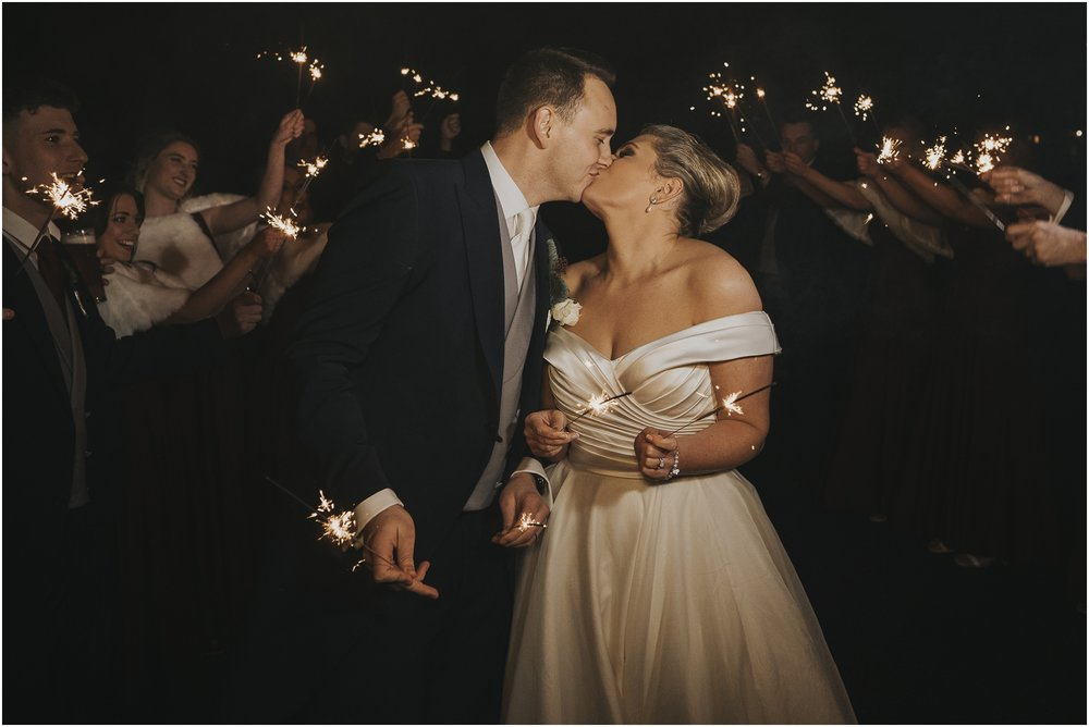 sparkler wedding shot