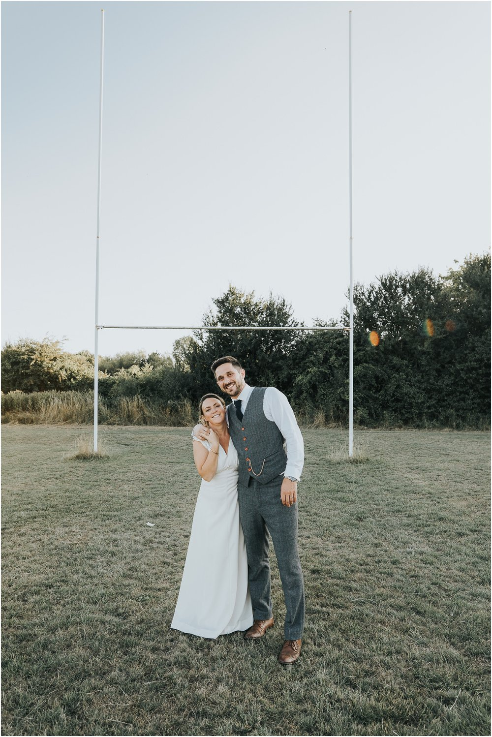 rugby pitch wedding