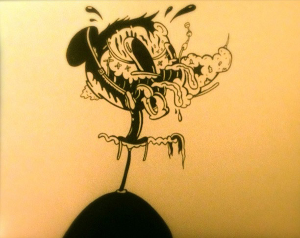 Stephen Tompkins  Mucky Muss  Ink on Paper / Animation 11 x 8.5 inches 2014   SOLD  - JW Marriott Marquis Collection - Miami Florida USA
