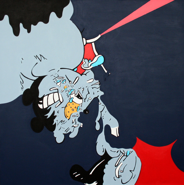 Stephen Tompkins  Vampyr  Acrylic on Canvas 50 x 50 inches 2013  SOLD