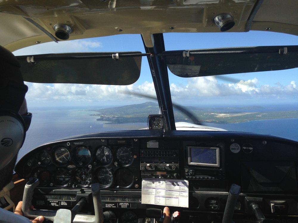 puddle jumper between Saipan and Tinian