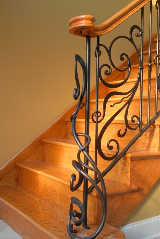 Wrought Iron Interior Railing   Residential