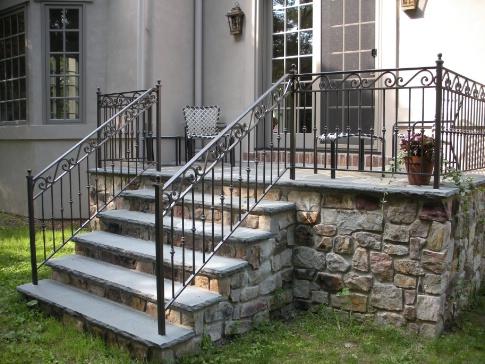 Charming Wrought Iron Exterior Railings