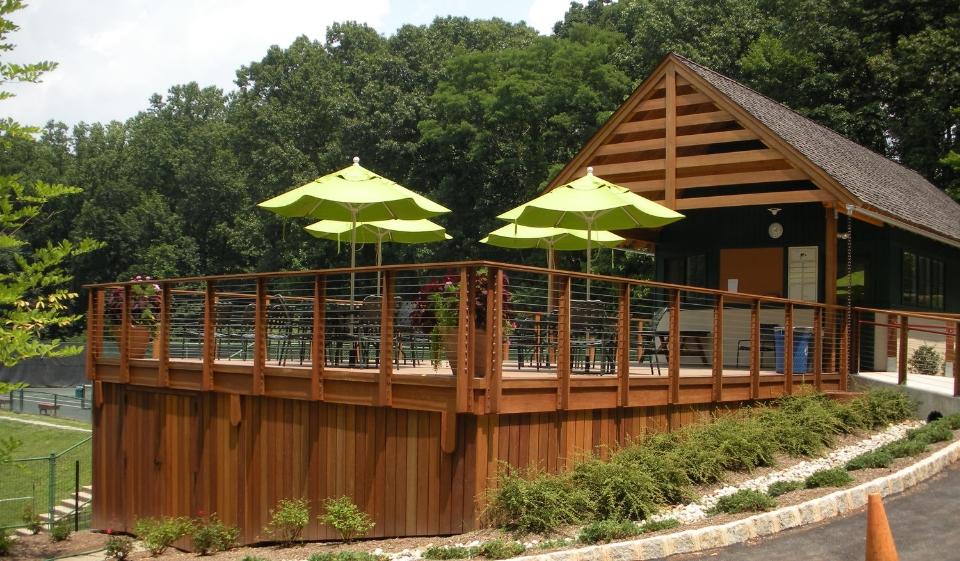 Beautiful Deck U0026 Poolside Iron Railings
