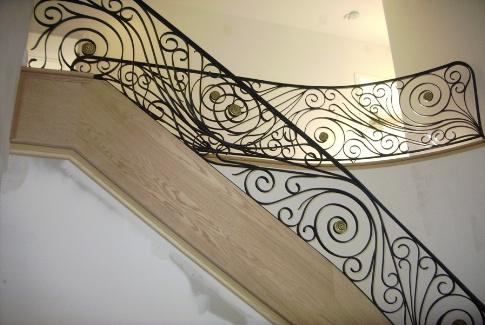 Decorative Iron Interior Railing   Residential