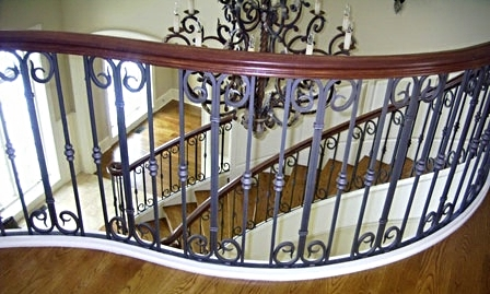 Nice Decorative Wrought Iron Interior Balcony Railing