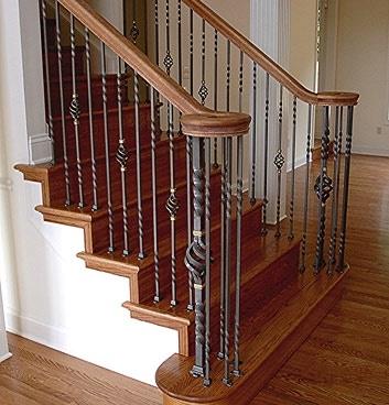 wrought iron fence installation railing diy custom interior indoor railings home depot