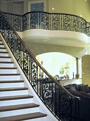 Wrought Iron Custom Staircase Railing